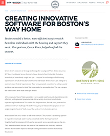 Thumbnail of Creating innovative software for Boston's Way Home Article