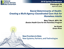Thumbnail of Spring, 2018 National Human Services Data Consortium conference session: <em> Social Determinants of Health: Creating a Multi-Agency Coordinated Care Hub for Homeless Adults</em> Article