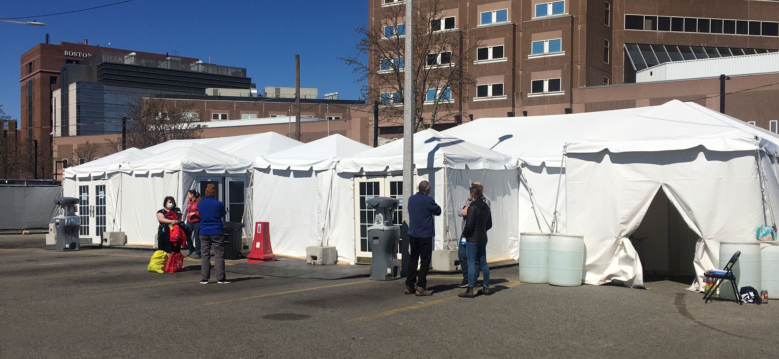 Testing tents for people experience homelessness in Boston, MA